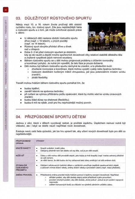 Náhled Vzdělání badmintonových trenérů - Trenérská příručka úroveň 1
