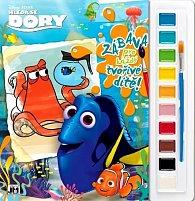 Hledá se Dory - Omalovánky s barvami A4