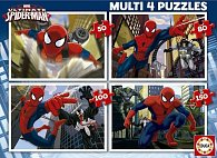 Puzzle Ultimate Spider-Man 4v1 50,80,100,150 dílků