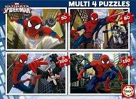 Puzzle Ultimate Spider-Man 4v1 50,80,100,150 dílků