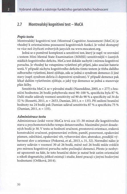 Náhled Vybrané oblasti a nástroje funkčního geriatrického hodnocení