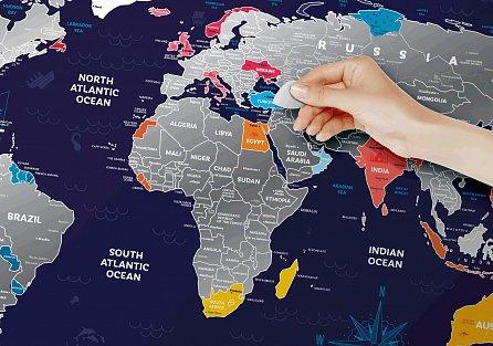"""Náhled Stírací mapa světa """"Travel Map Holiday World"""""""