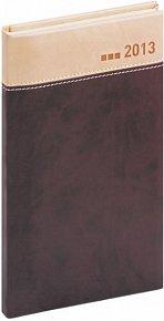 Diář 2013 - Marbella - Kapesní, mahagonovokrémová, 9 x 15,5 cm