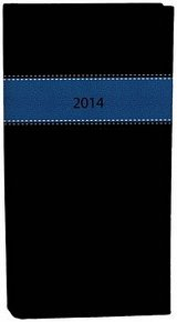 Diář A6 Fénix týdenní modrá černá 2014