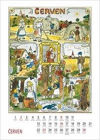 Kalendář 2013 nástěnný - Josef Lada Měsíce, 33 x 46 cm