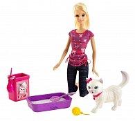Barbie hrací set s koťátkem