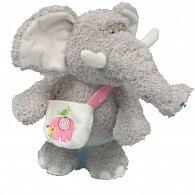 Slon s taškou přes rameno 25 cm