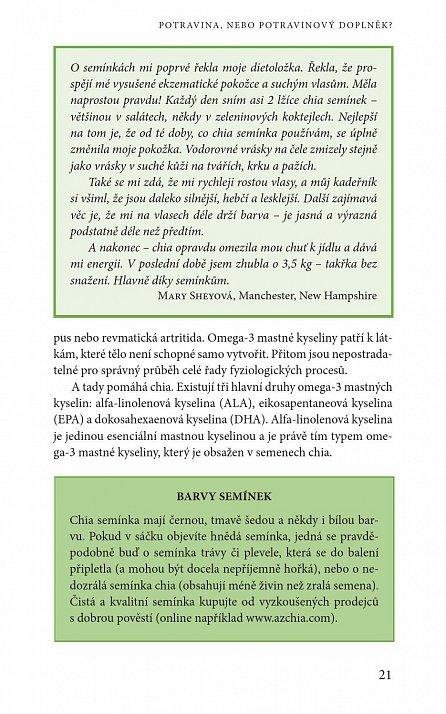 Náhled Zázračné semínko chia - Energetická bomba pro sportovce; Více než 75 báječných receptů; Ucelený program pro snížení hmotnosti