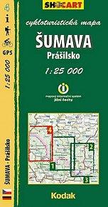 Šumava - Prášilsko - cykloturistická mapa č. 4 /1:25 000