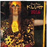 Kalendář nástěnný 2016 - Gustav Klimt, poznámkový  30 x 30 cm