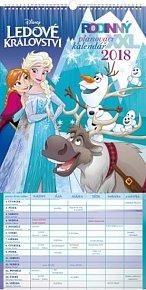 Kalendář nástěnný 2018 - Rodinný plánovací XXL – Ledové království