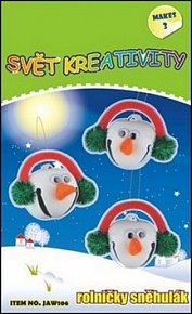 Kreativní set rolničky sněhulák