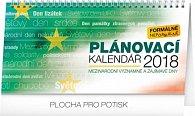 Kalendář stolní 2018 - Plánovací kalendář – se světovými a mezinárodními dny, 25 x 12,5 cm