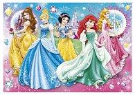 Puzzle Klenoty Třpytivé princezny 104 dílků