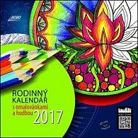 Rodinný kalendář s omalovánkami a hudbou - nástěnný kalendář 2017