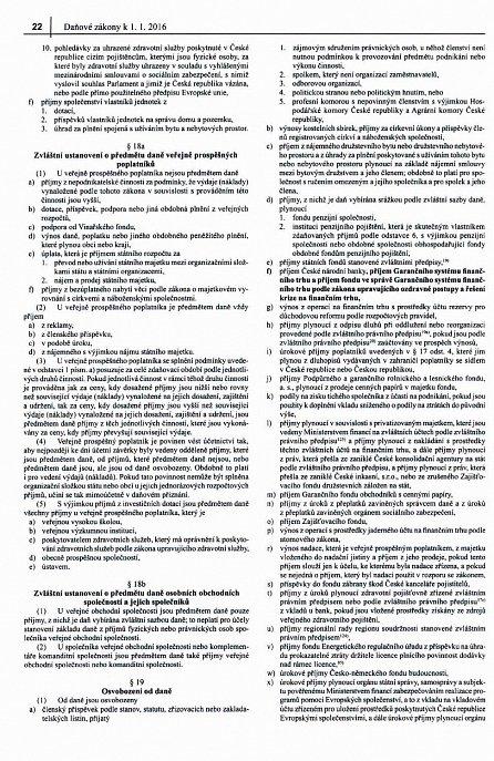 Náhled Daňové zákony 2016 - Úplná znění platná k 1. 1. 2016