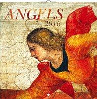 Kalendář nástěnný 2016 - Andělé, poznámkový  30 x 30 cm