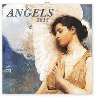 Kalendář 2015 - Andělé - nástěnný (GB, DE, FR, IT, ES, NL)