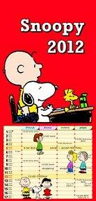 Kalendář nástěnný 2012 - Snoopy, 20 x 42 cm