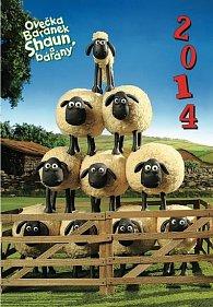 Diář 2014 - Ovečka Shaun - Týdenní magnetický (ČES, SLO, MAĎ, POL, RUS, ANG)