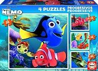 Puzzle Hledá se Nemo 4v1 12,16,20,25 dílků