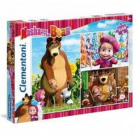 Puzzle Máša a Medvěd 3x48 dílků