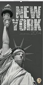 Kalendář 2014 - New York Jakub Kasl - nástěnný s prodlouženými zády