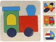 Dřevěné puzzle pro nejmenší - dopravní prostředky