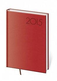 Diář 2015 - PRINT POP denní A5 - červená