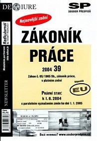 Zákoník práce Právní stav v platném znění k 1.6.2004