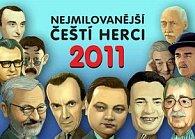 Kalendář 2011 - Nejmilovanější čeští herci