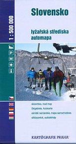 Slovensko lyžařská střediska 1:500 000