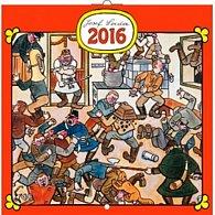 Kalendář nástěnný 2016 - Josef Lada - V hospodě, poznámkový  30 x 30 cm