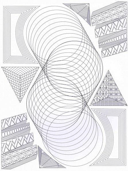 Náhled Geometrické obrazce - Antistresové omalovánky s 60 ilustracemi