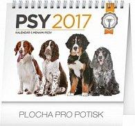 Psy - stolový kalendár 2017