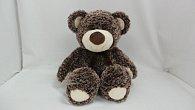 Medvěd plyšový tmavě hnědý 34 cm