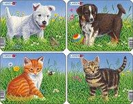 Puzzle MINI - Štěňátka + koťátka/6 dílků (4 druhy)