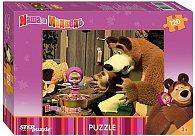 Puzzle 120 Máša a Medvěd - Vaření