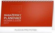 Manažérsky kalendár s citátmi - stolový kalendár 2017