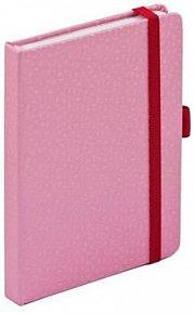 Notes s gumičkou Pink