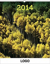 Kalendář 2014 - Lesy Praktik - nástěnný s prodlouženými zády