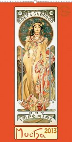 Kalendář 2013 nástěnný - Alfons Mucha, 33 x 64 cm