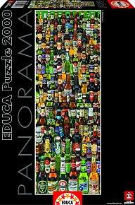 Puzzle Panoramatické Láhve s pivem 2000 dílků