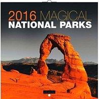 Kalendář nástěnný 2016 - Magické národní parky - Jakub Kasl, poznámkový  30 x 30 cm
