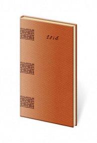 Diář 2014 - kapesní týdenní Midi - oranžová
