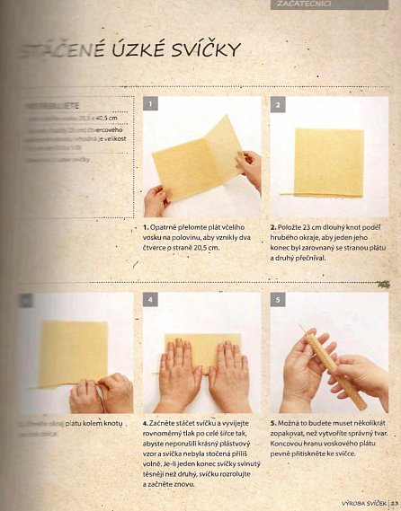Náhled Včelí vosk - Jak si vyrobit domácí svíčky, mýdla, balzámy, krémy či peelingy