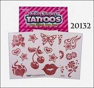 Tetování gliter jednobarevné
