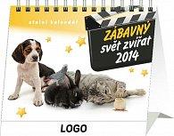 Kalendář 2014 - Zábavný svět zvířat - stolní