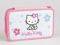 Penál Hello Kitty růžovo/světle modrý patrový s překlápěním