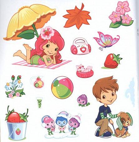 Náhled Strawberry Shortcake - Hraj si se samolepkami